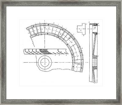 Zoelly Turbine Framed Print by Science Photo Library