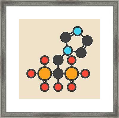 Zoledronic Acid Molecule Framed Print by Molekuul