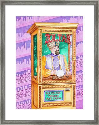 Zoltar Speaks Framed Print by Rhonda Leonard