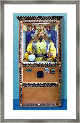 Zoltar Speaks Framed Print by Ron Regalado
