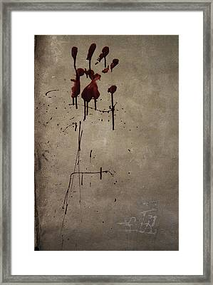 Zombie Attack - Bloodprint Framed Print by Nicklas Gustafsson