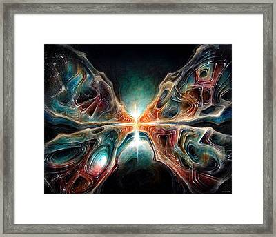 Zombie Butterfly Framed Print by Robert Anderson