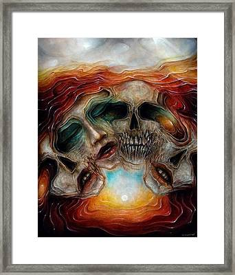 Zombie Flower Framed Print by Robert Anderson