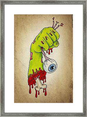 Zombie Hatred Framed Print by Samuel Whitton