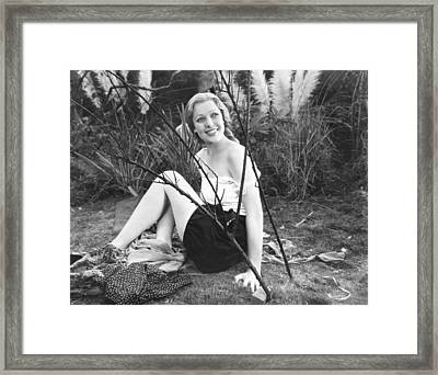 Zoo In Budapest, Loretta Young, 1933 Framed Print by Everett