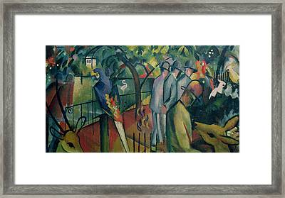 Zoological Garden I, 1912 Oil On Canvas Framed Print by August Macke