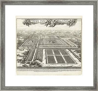 Zorgvliet Park In The Hague, The Netherlands Framed Print by Johannes Jacobsz Van Den Aveele And Johannes Covens And Cornelis Mortier