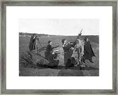 Zouave Anti-aircraft Gun Framed Print by Underwood Archives