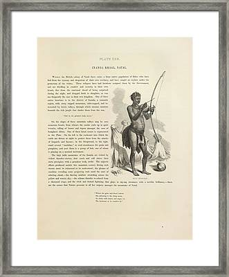 Zulu Musician Framed Print by British Library