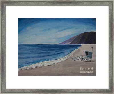 Zuma Lifeguard Tower #5 Framed Print by Ian Donley