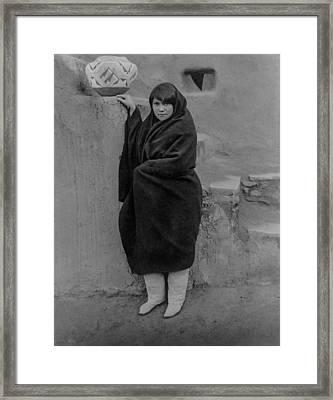 Zuni Woman Circa 1903 Framed Print by Aged Pixel
