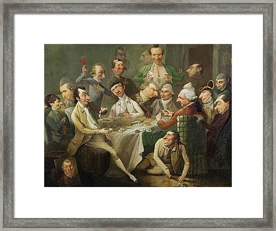 A Caricature Group Framed Print by John Hamilton Mortimer