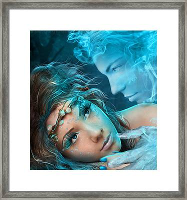 Achieving The Shadow Of Love Framed Print by Amalia Iuliana Chitulescu