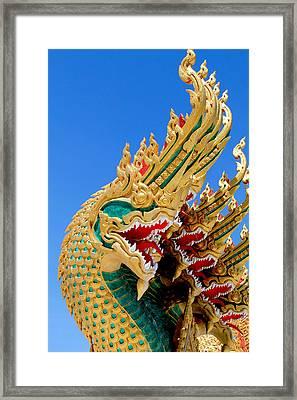 Asian Temple Dragon   Framed Print by Panyanon Hankhampa