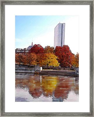 Back Bay Colors Framed Print by Carl Licence