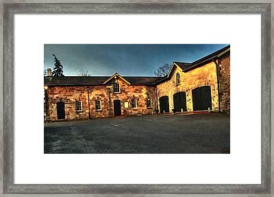 Dundurn Castle Coach House Framed Print by Larry Simanzik