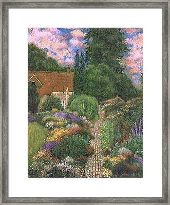 English House And Garden 1 Framed Print by    Armand  Storace