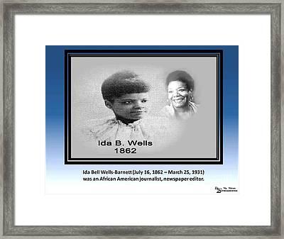 Famous Writer Framed Print by Belinda Threeths