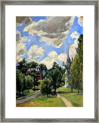From Williamstown July Clouds Framed Print by Thor Wickstrom
