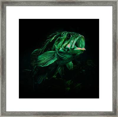Green Fish Framed Print by Veronica Ventress