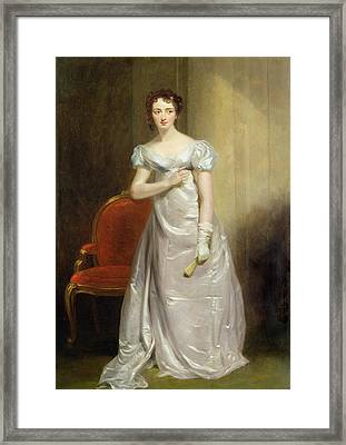 Harriet Smithson As Miss Dorillon Framed Print by George Clint