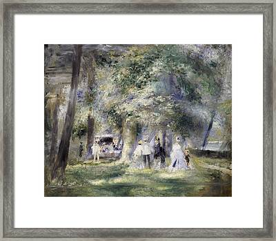 In The Park At Saint-cloud Framed Print by Pierre Auguste Renoir