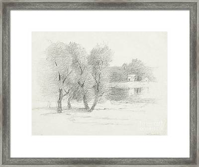 Landscape - Late 19th-early 20th Century Framed Print by John Henry Twachtman