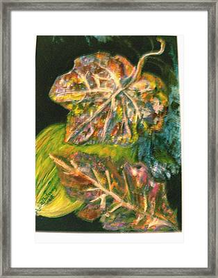 Leaves From My Imagination Framed Print by Anne-Elizabeth Whiteway