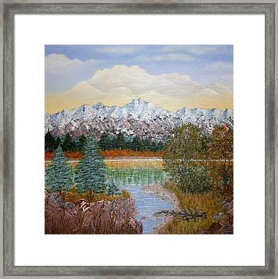 Mountain Fall Framed Print by Georgeta  Blanaru