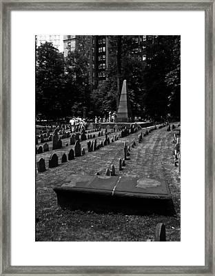 Old Boston Cemetery Framed Print by Thomas D McManus
