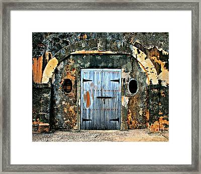Old Wooden Doors Framed Print by Perry Webster