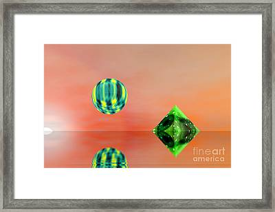 Planet And Piramid Framed Print by Odon Czintos