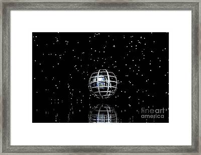 Planet And Stars Framed Print by Odon Czintos