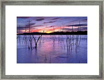 Purple Lake  Framed Print by Guido Montanes Castillo