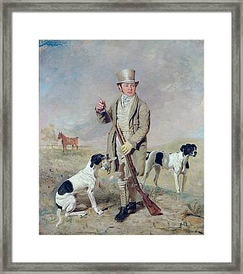 Richard Prince With Damon - The Late Colonel Mellish's Pointer Framed Print by Benjamin Marshall