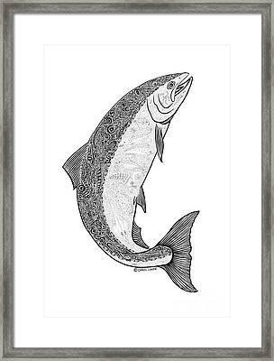 Salmon II Framed Print by Carol Lynne