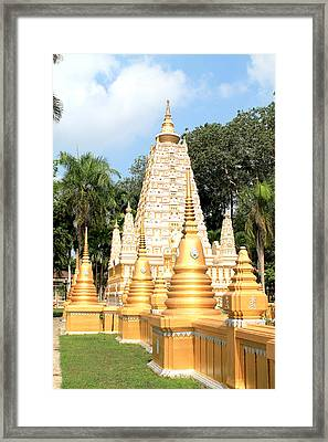 Stupa  Framed Print by Panyanon Hankhampa