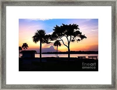 Sunrise At The Old Fort Framed Print by Richard Burr