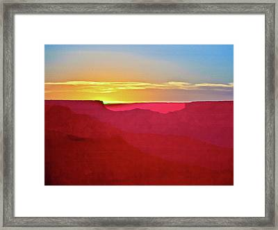 Sunset At Grand Canyon Desert View Framed Print by Bob and Nadine Johnston