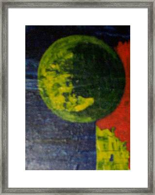 The Orbiting Planet Framed Print by Roy Penny