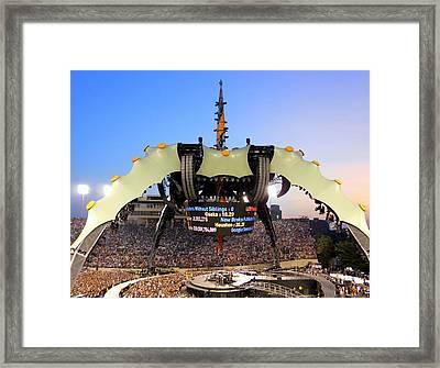 U Two Tour Nashville Tn Framed Print by Monica Lewis