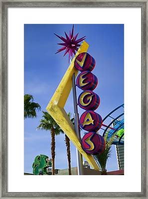 Vegas Sign Framed Print by Garry Gay