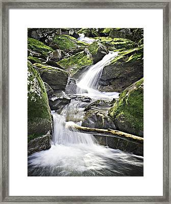 0804-0035 Cascade Above Triple Falls Framed Print by Randy Forrester