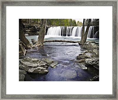0804-3327 Falling Water Falls 1 Framed Print by Randy Forrester