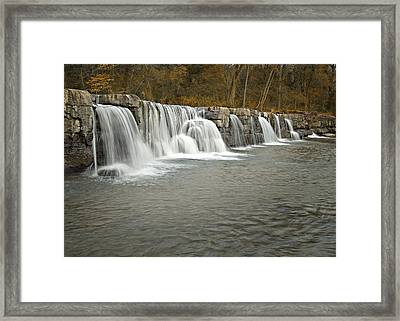0902-6916 Natural Dam 1 Framed Print by Randy Forrester