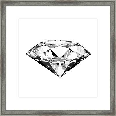 Diamond Framed Print by Setsiri Silapasuwanchai