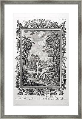 1731 Scheuchzer Creation Adam & Eve Framed Print by Paul D Stewart
