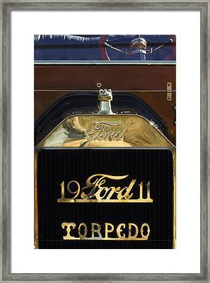 1911 Ford Model T Torpedo Hood Ornament Framed Print by Jill Reger