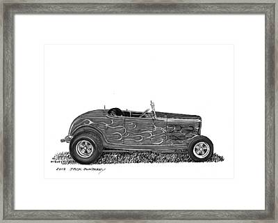 1932 Ford Hi Boy Hot Rod Framed Print by Jack Pumphrey
