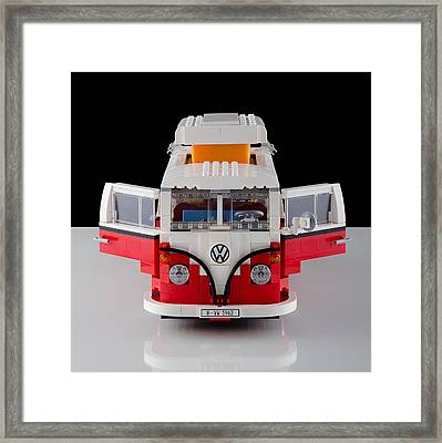 1962 Vw Lego Bus Framed Print by Noah Katz